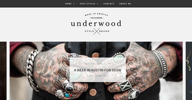 Download Underwood Blogging WordPress Theme now!