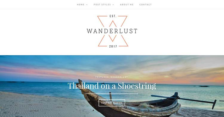 Wanderlust Travel Magazine WP Theme