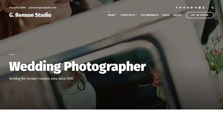 Benson Photography WordPress Theme