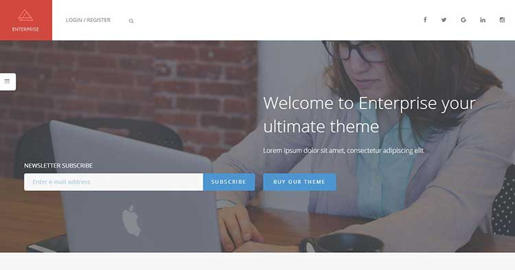 Enterprise Corporate WordPress Theme