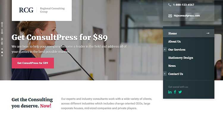 ConsultPress Consulting WordPress Theme
