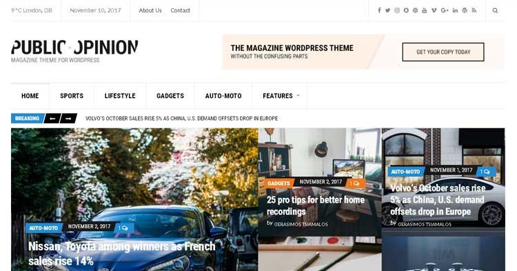 Download Public Opinion WordPress Theme Now!