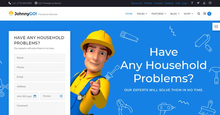 Download JohnnyGo Home Services WP Theme now!