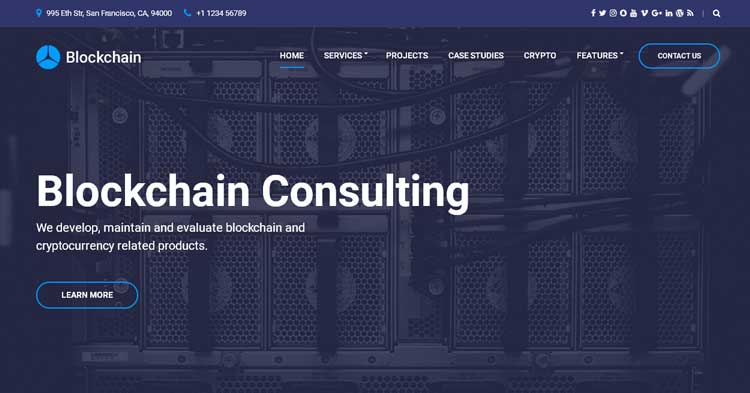 Blockchain Cryptocurrency WordPress