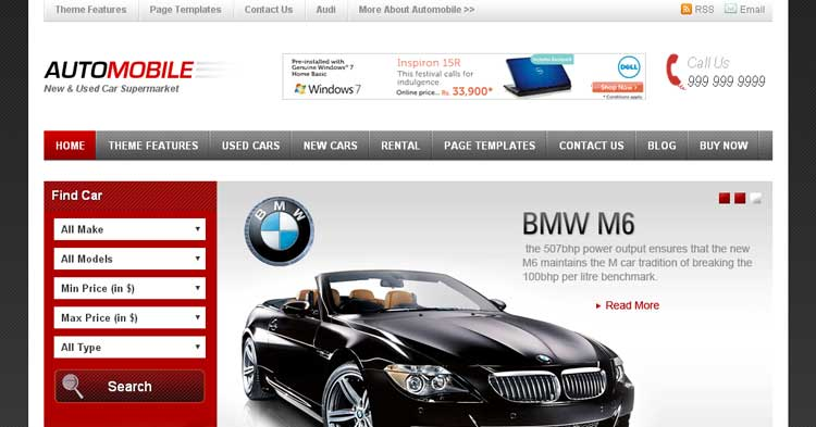 Automobile Car Dealer WordPress Theme