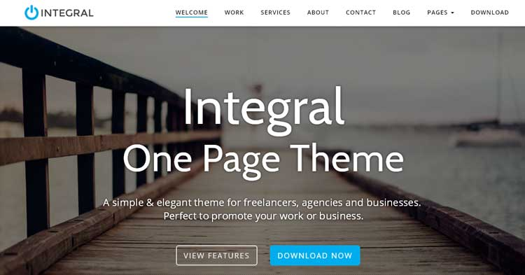 Download Integral Premium One Page WP Theme Now!