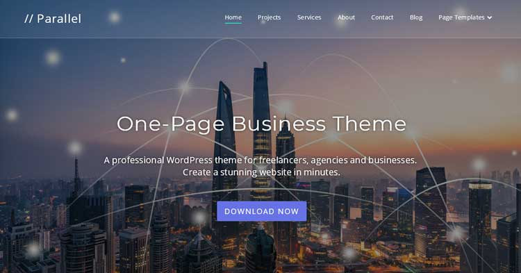 Download Parallel One Page WordPress Theme Now!