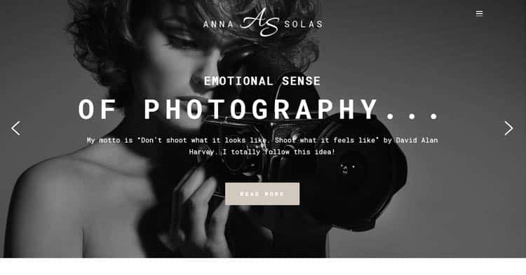 Download Anna Solas Photography WordPress Theme now!