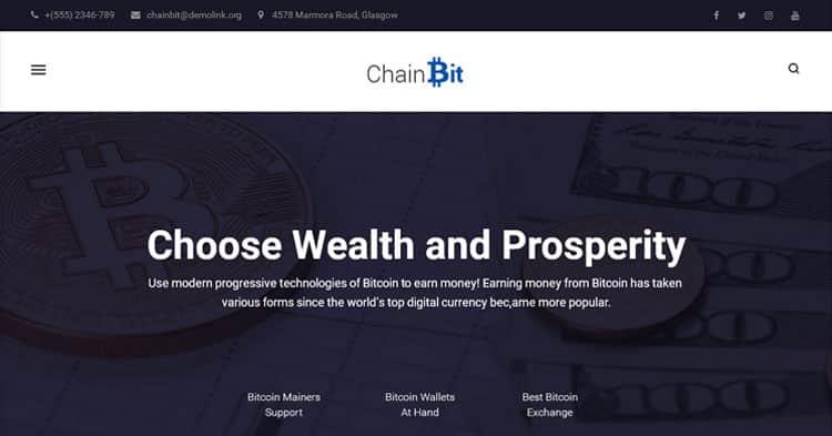 Download ChainBit Bitcoin WordPress Theme Now!