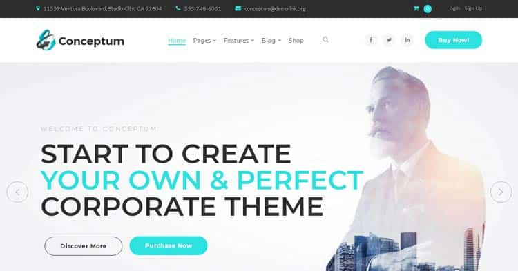 Download Conceptum Corporate WordPress Theme Now!