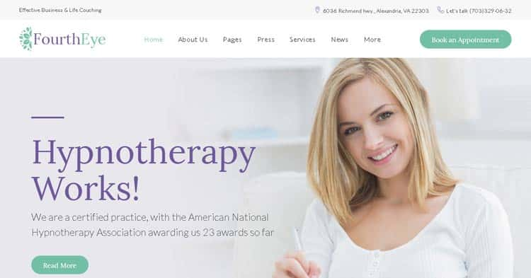 Download Fourth Eye Hypnotherapy WordPress Theme Now!