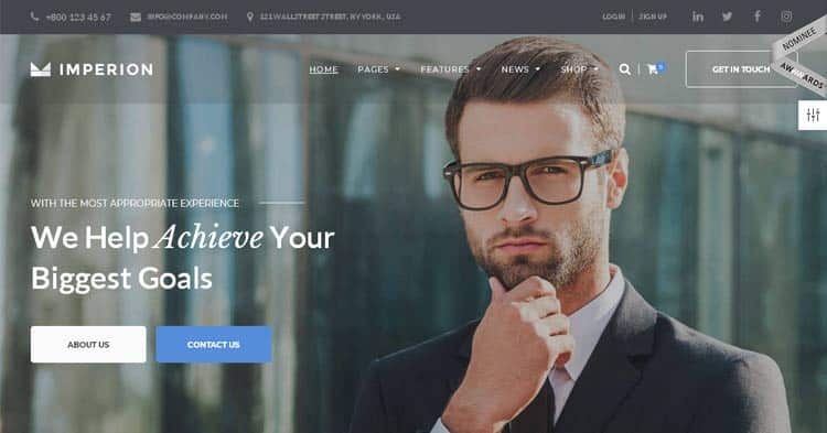 Imperion Corporate WordPress Theme
