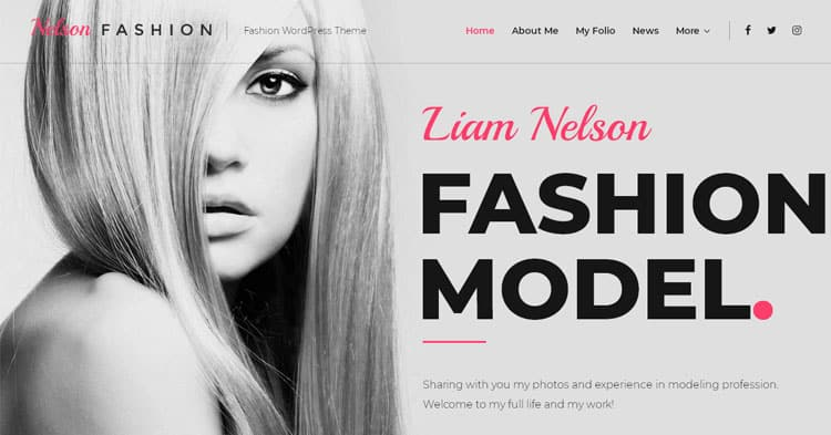 Nelson Fashion Model Agency WP Theme