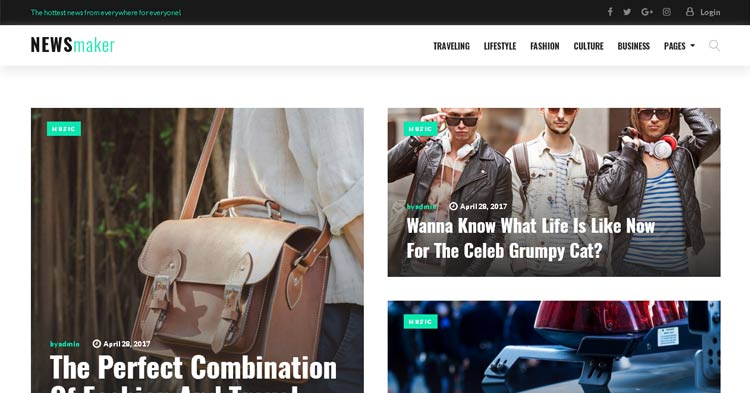 Download NewsMaker Magazine WordPress Theme Now!