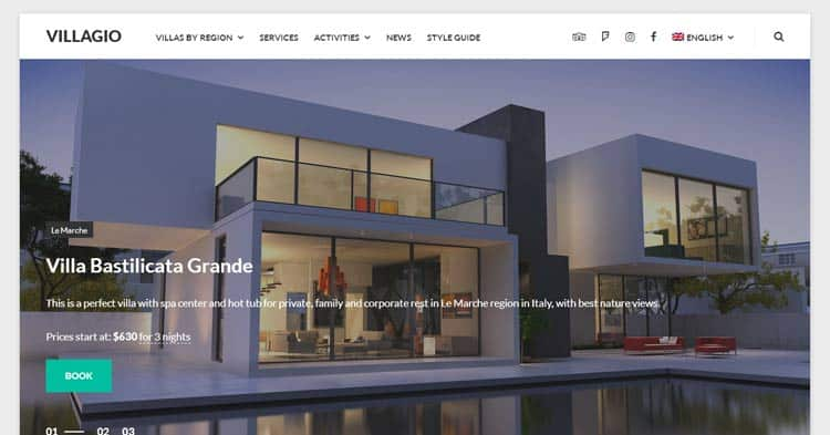 Villagio Property Booking WordPress Theme