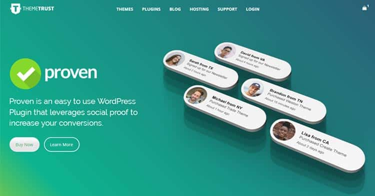 Download Proven Social Proof WordPress Plugin