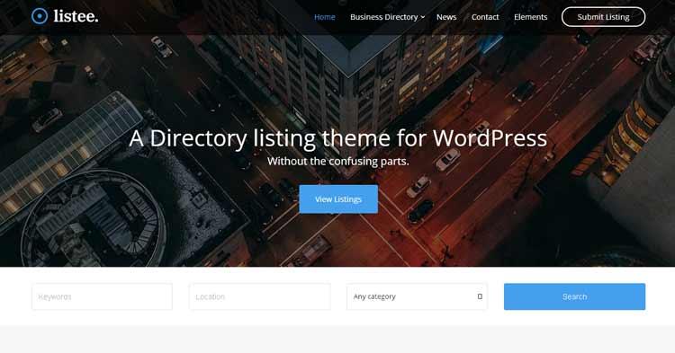Listee Business Directory WordPress Theme