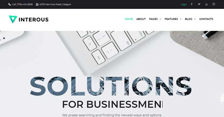 Download Interious Business Services WP Theme now!