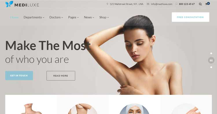 Mediluxe Plastic Surgery WordPress Theme