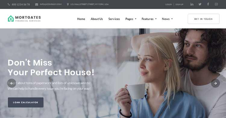 Download Mortgates Financial Services WP Theme now!