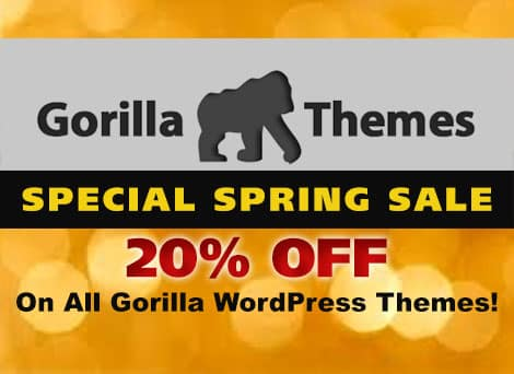Gorillathemes Black Friday Sale