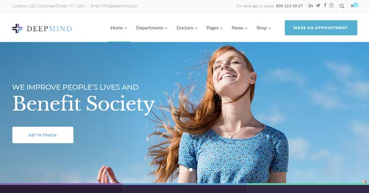 Deep Mind Psychology Clinic WP Theme