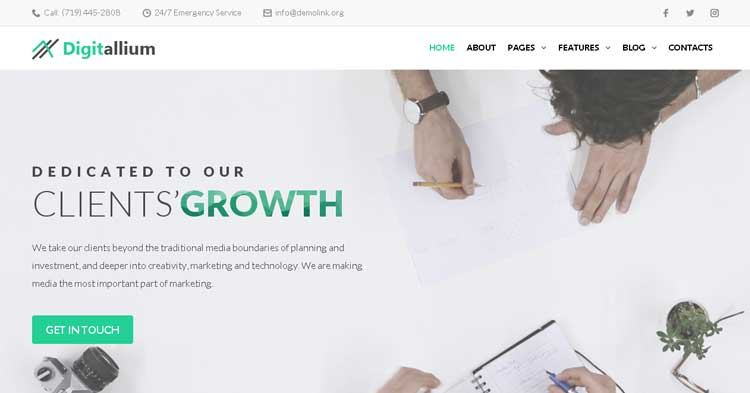 Download Digitalium Marketing Agency WordPress Theme Now!