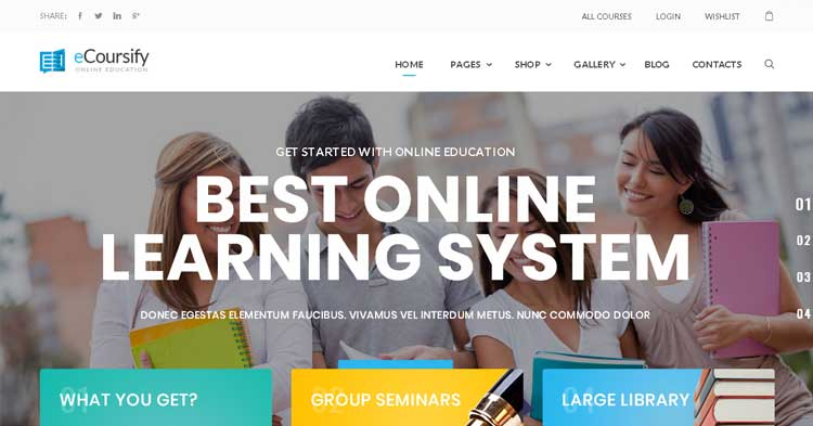 Download ECoursify LMS Online Courses WP Theme now!
