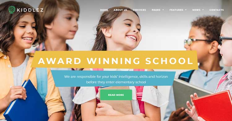 Kiddlez Primary School WordPress Theme