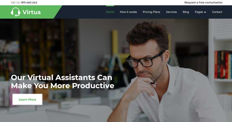 Virtua Virtual Assistant WordPress Theme
