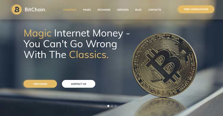 Download BitChain Pro Cryptocurrency WordPress Theme Now!
