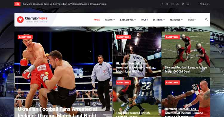 Download ChampionNews Sports News WordPress Theme Now!