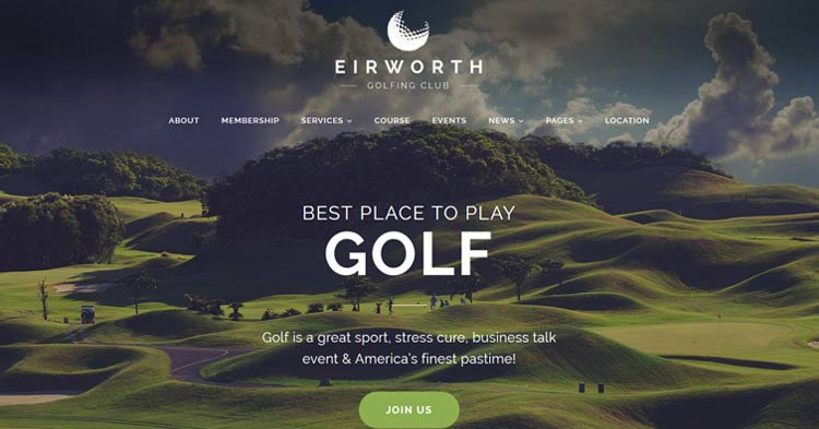 Download Eirworth Golf Club WordPress Theme Now!