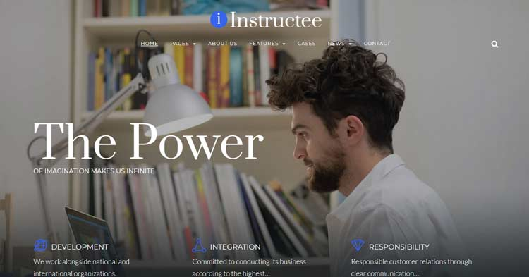 Instructee Consulting Services WordPress Theme