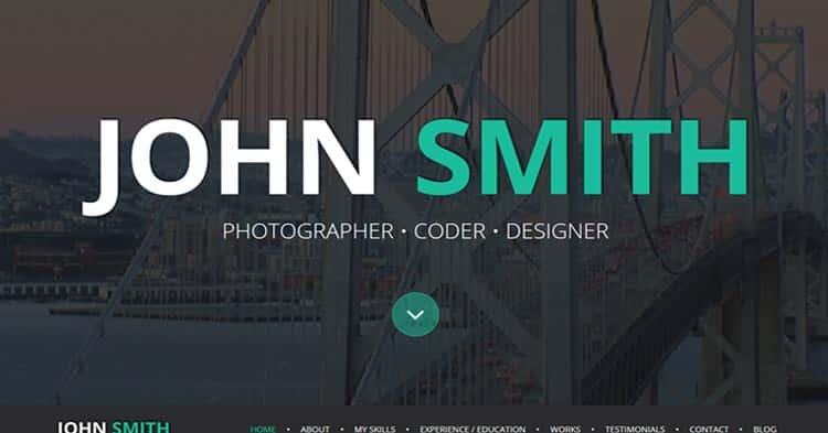 Download Online CV Resume WordPress Theme now!