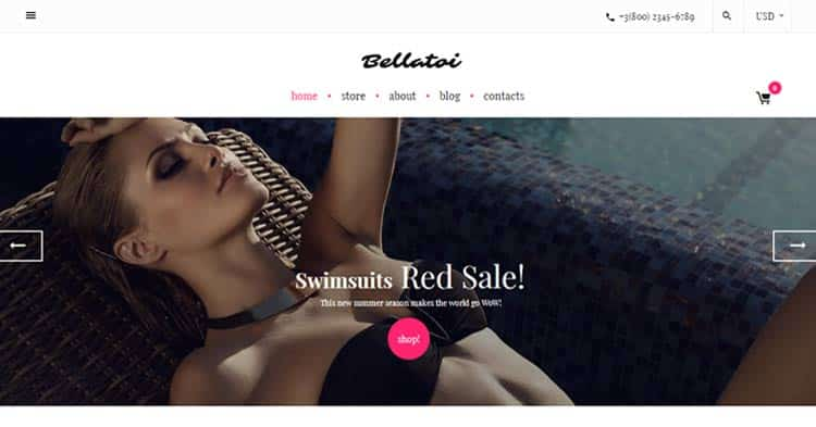 Bellatoi Lingerie WooCommerce Theme