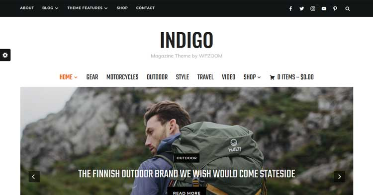 Indigo WordPress Magazine Theme