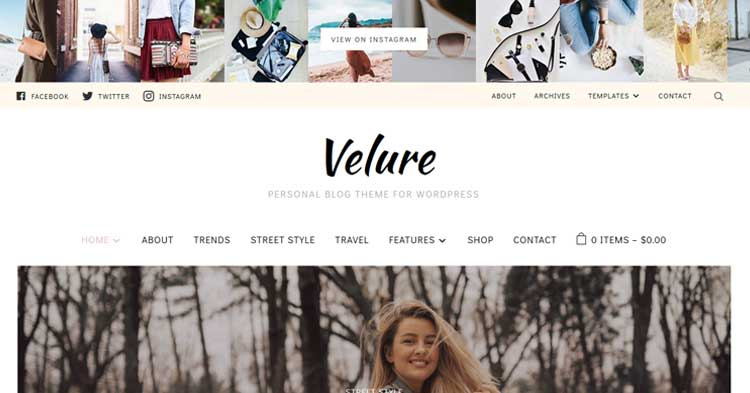 Velure Fashion Magazine WordPress Theme