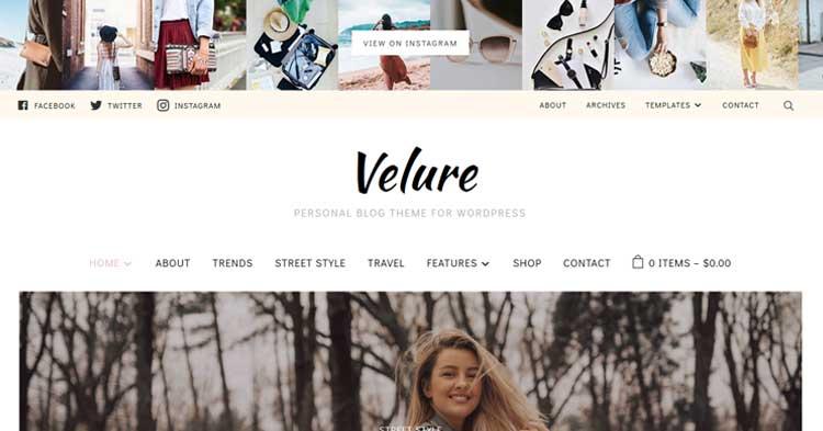 Download Velure Fashion Magazine WordPress Theme Now!