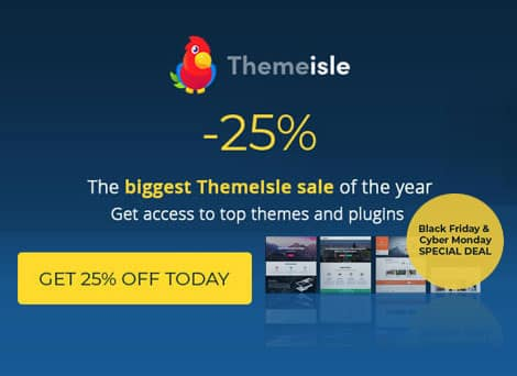 Themeisle Black Friday Offer