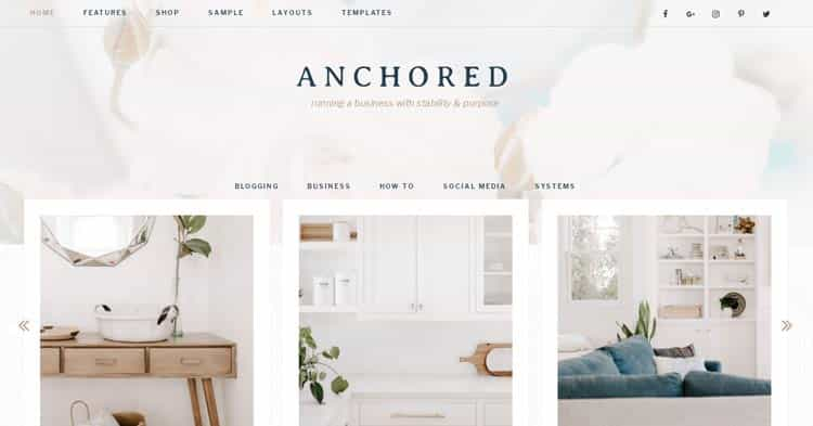 Anchored WordPress Theme