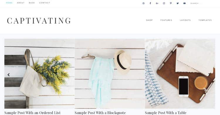 Captivating WordPress Theme