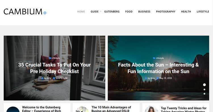 Download Cambium News Magazine WordPress Theme Now!