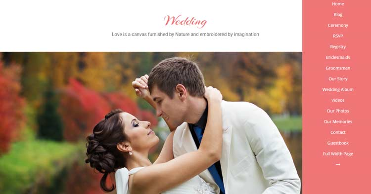 Wedding Photogallery Event WordPress Theme