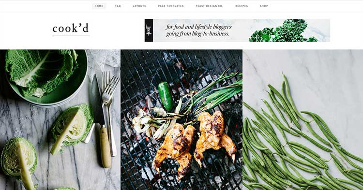Cook'd Pro Food Blogging WordPress Theme