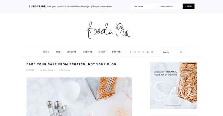 Foodie Pro Theme For Food Blogs