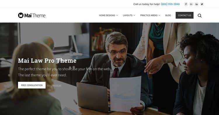 Download Mai Law Pro Lawyers WordPress Theme Now!