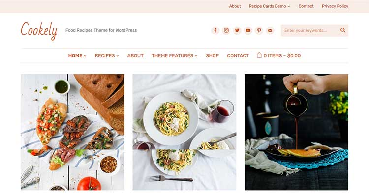 Download Cookely Food Blog Magazine Theme now!