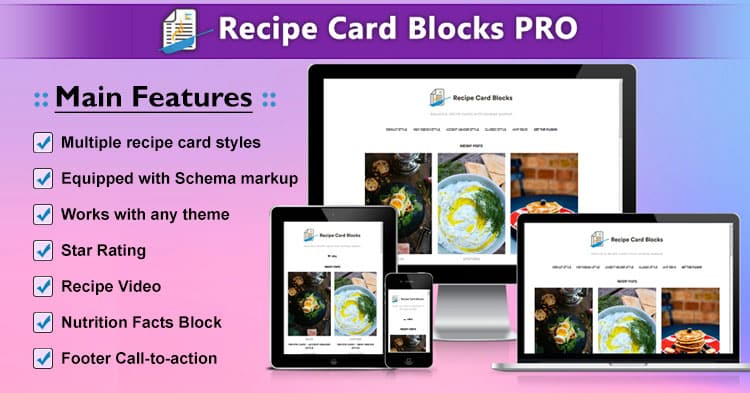 Download Recipe Card Blocks PRO Plugin