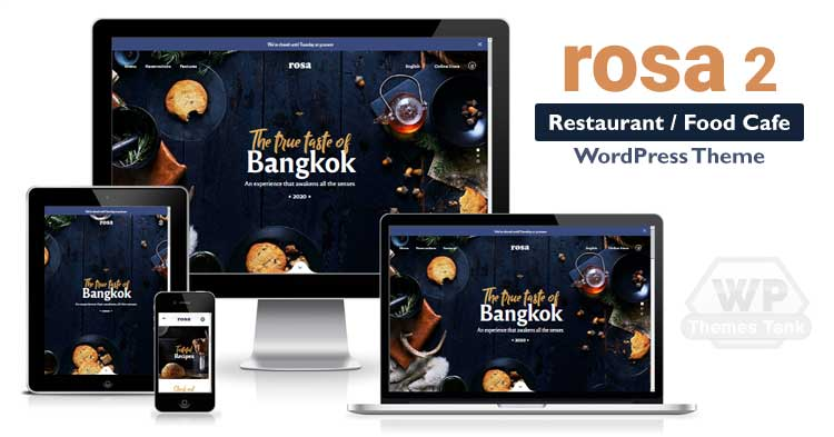 Rosa 2 - the best-selling restaurant WordPress theme
